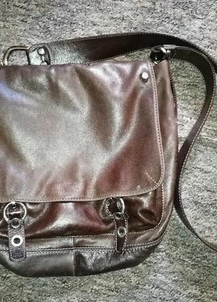 Шикарна шкіряна сумка francesco biasia, оригінал! італія.