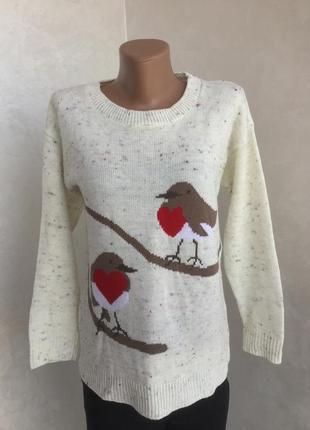 Новогодний свитер boohoo на м размер