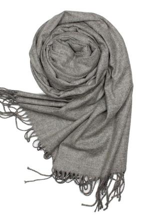 Шарф cashmere светло-серый