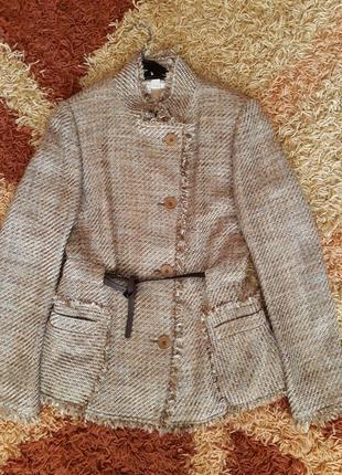 Брендовый пиджак zara в стиле шанель .