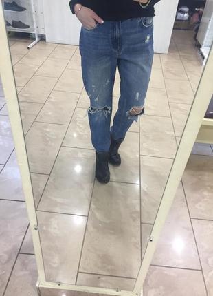 Джинсы момы, mom jeans