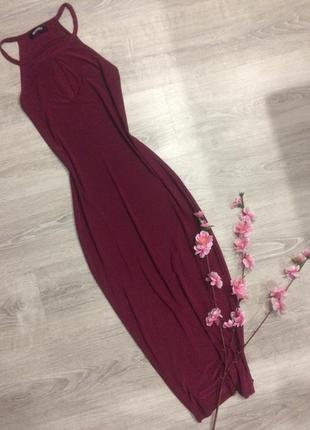 Платье миди шикарного цвета с/м