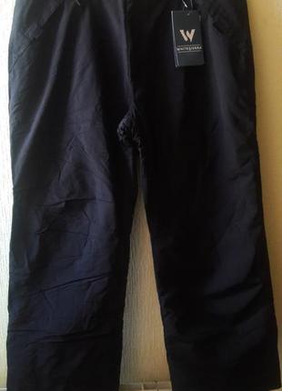 Зимние утепленные мужские штаны не на высоких!