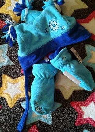 Childrenplace набор девочке флисовый зимний 3-4 года