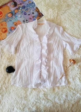 Классическая украшенная блуза блузка рубашка  с коротким рукавом  biba