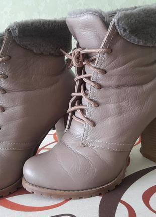 Зимние сапоги ботинки натуральная кожа