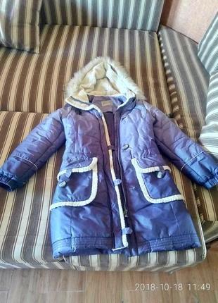 Зимняя подростковая удлиненная курточка для девочки lenne