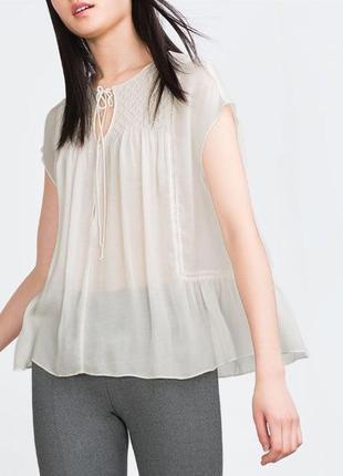Блуза с вискозы от zara