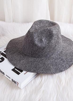 13-142 стильная весенне-осенняя шляпа федора
