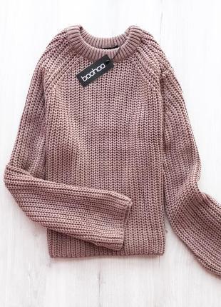 Мега крутий светрик з широкими рукавами \ крутой обьемный свитер від boohoo