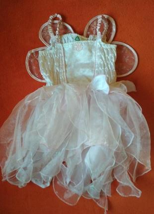 Новорічний костюм, плаття з крильцями, фея, elc