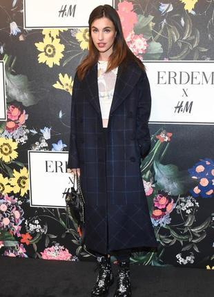 Шикарное шерстяное пальто оверсайз h&m erdem
