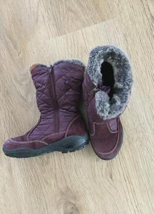 Зимние сапоги на девочку 31 deltex