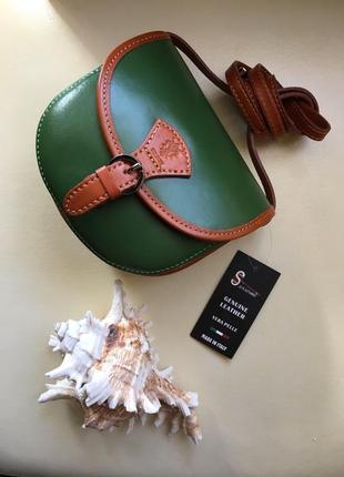 Новая кожаная сумка vera pelle