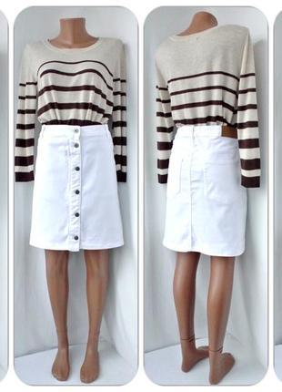 """Новая.стильная,модная джинсовая юбка """"st denim"""" на пуговицах.размер eur 46(наш 52)."""