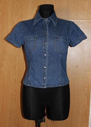 Сорочка джинсова з коротким рукавом