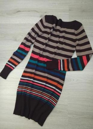 Трикотажное платье туника длинный свитер