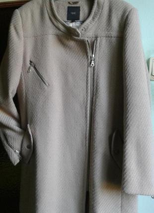 Пальто деми( елочка плетение)