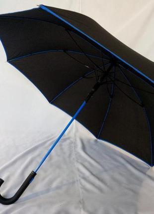 Стильный качественный подростковый зонт трость спица карбон