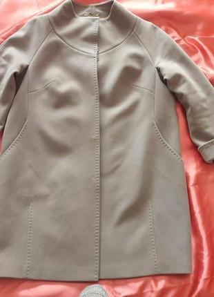 Удобное кашемировое пальто на 56 размер