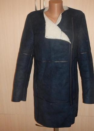 Пальто promod р.38 дубленка искусственная