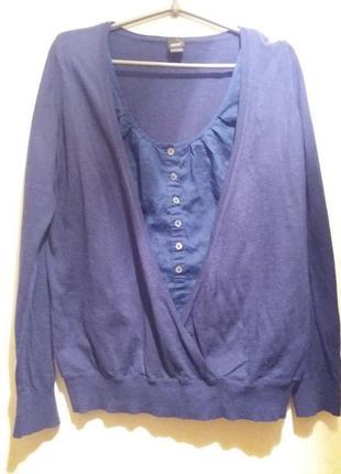 Оригинальный свитер джемпер обманка