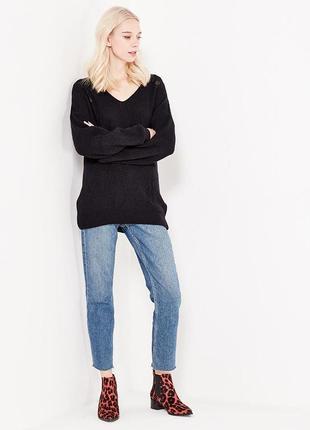 Новый черный пуловер джемпер свитер