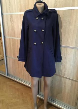 Шерстяное пальто divided, h&m, шерсть, 38!!!