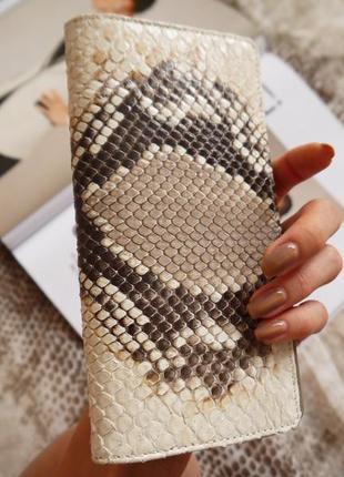 Портмоне кошелек из кожи питона| кожаный кошелек ersho bags