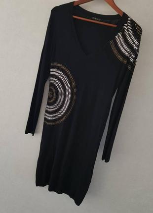 Эффектное платье от yu.k.by s.g (франция) на наш 46-48 размер.