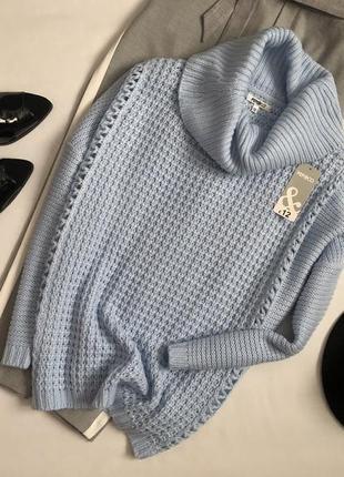 Новый уютный свитер с горлом pep & co