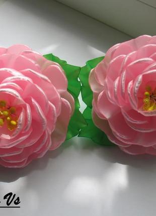 Резинки розовые пионы