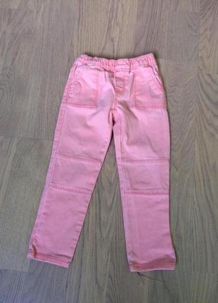Розовые брюки джеггинсы от oshkosh на 4 года