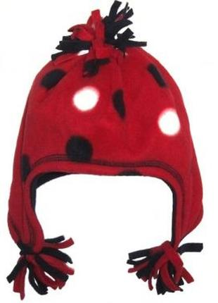 Новая флисовая шапка в горох для малышей, mothercare, 0059