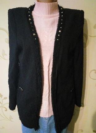 Zara торжественный пиджак жакет накидка .