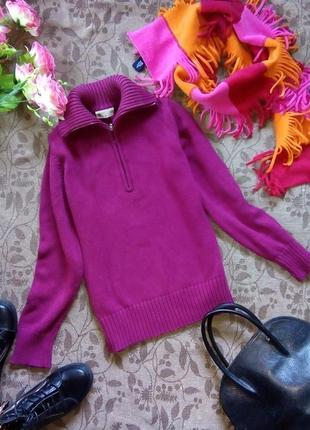 Стильный джемпер, свитер, цвета марсала.