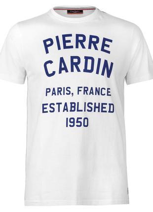 Pierre cardin мужская футболка белая размер м л хл англия оригинал