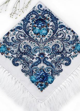 Павлопосадский белый платок царский