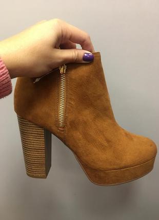 Ботинки осенние на каблуке