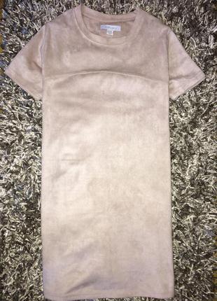 Платье amisu под замшу. как новое!