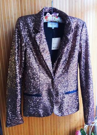 Нарядный пиджак в пакетах от vila. размер м
