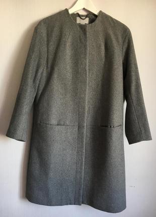 Пальто h&m (шерсть), б.у.