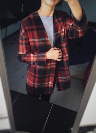 Стильный жакет , пиджак в клеточку