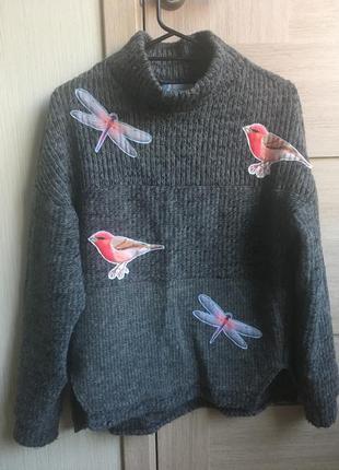 Шерстяной свитер украинского бренда booriva