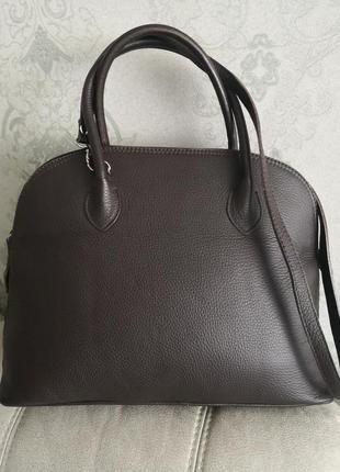 Роскошная стильная кожаная сумка vera pelle