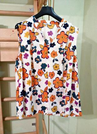 Легкая блуза в цветы 16