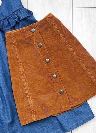 Вельветовая юбка размер s-m