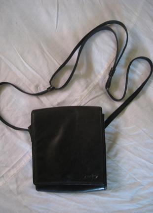 Кожаная фирменная сумочка funbag, германия, оригинал!!!
