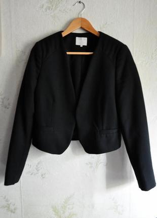 Брендовый кроп пиджак жакет