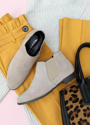 Замшеві челсі tamaris / замшевые челси / ботинки на осень / 23 см